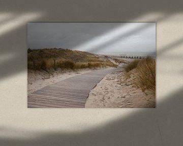 Looppad naar het strand van Marleen Savert