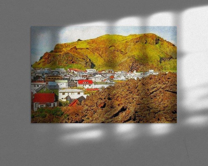 Sfeerimpressie: Nieuw Pompeï, Heimaey, IJsland van Frans Blok