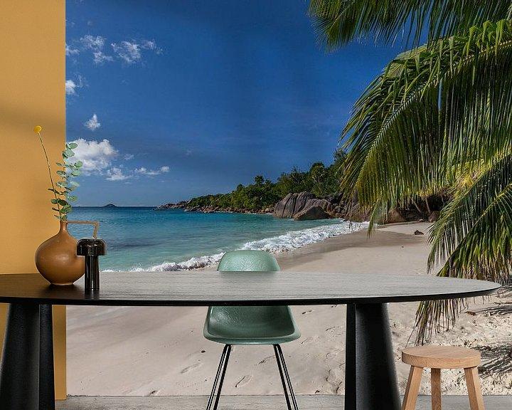 Beispiel fototapete: Sandstrand auf der Seychelleninsel Praslin von Reiner Conrad