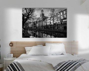 De Augustinuskerk in Utrecht in zwart-wit (liggend)