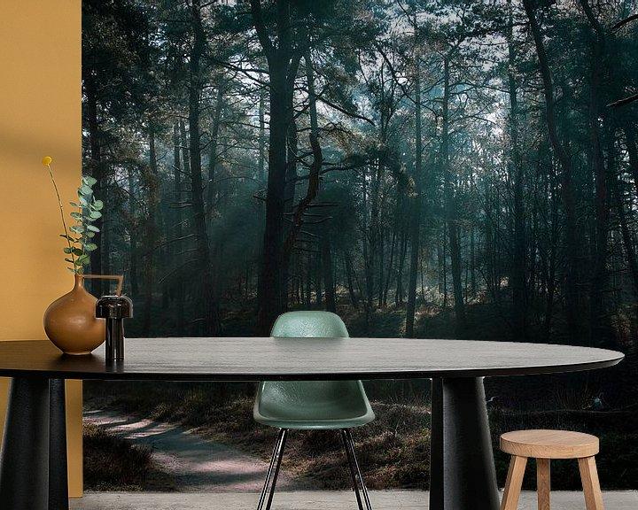 Sfeerimpressie behang: Wandeling door het bos van Patrick  van Dasler
