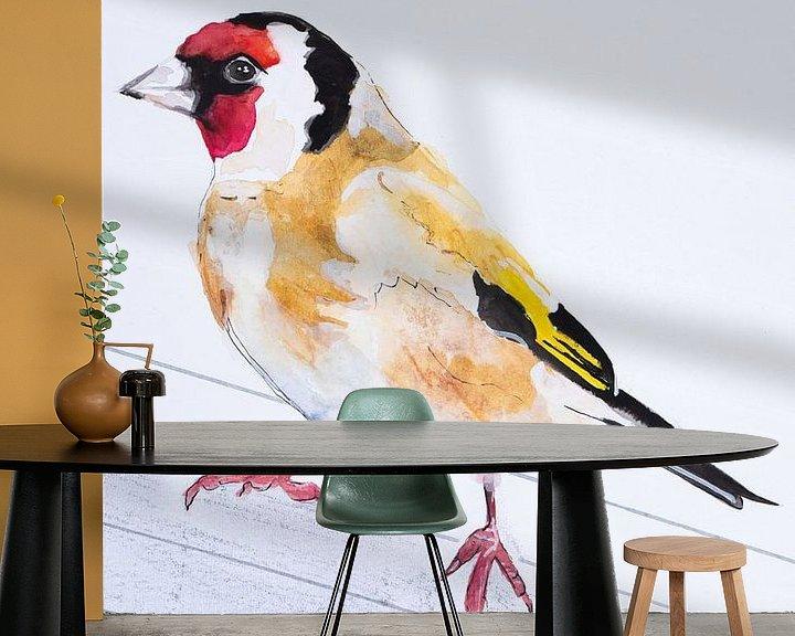 Beispiel fototapete: Der Putter, Vogel-Illustration von Angela Peters