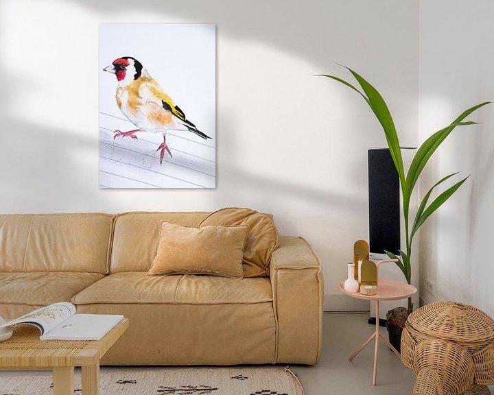 Beispiel: Der Putter, Vogel-Illustration von Angela Peters