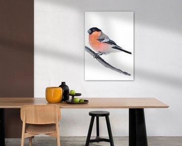 Der Gimpel Vogel Illustration von Angela Peters