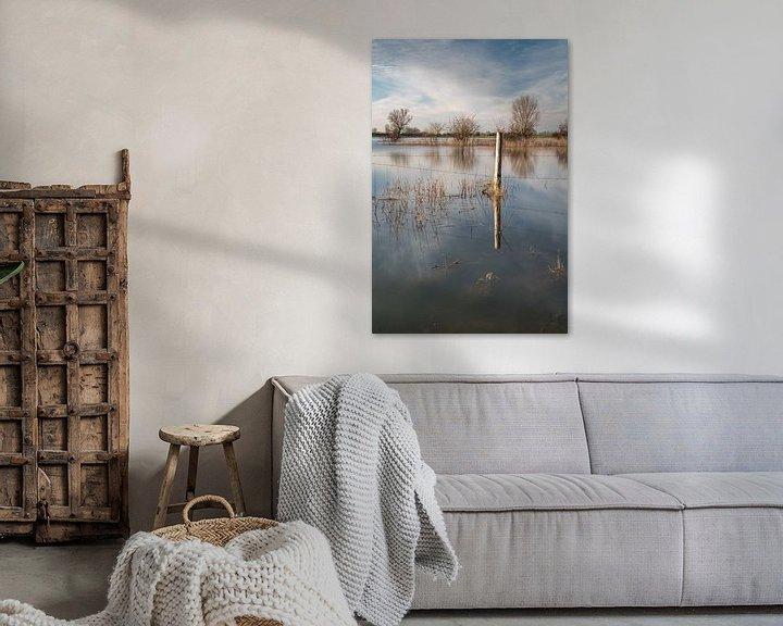 Sfeerimpressie: Paal en zijn reflectie van Mark Bolijn