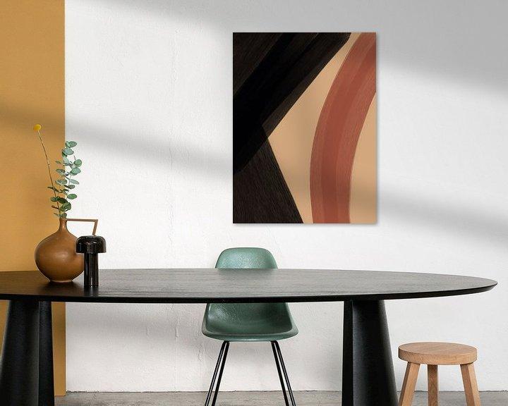 Sfeerimpressie: Modern Abstract III van YOPIE illustraties