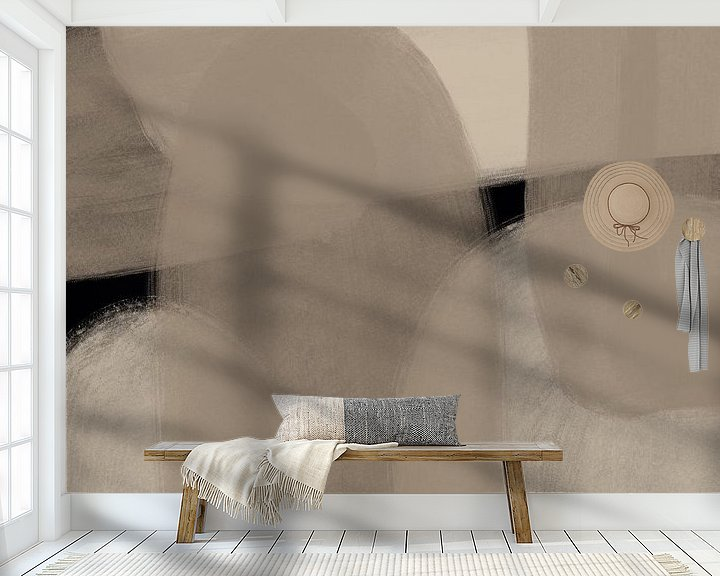 Sfeerimpressie behang: Modern Art - tueri van YOPIE illustraties
