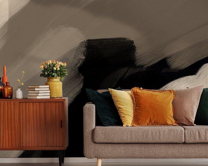 Sfeerimpressie behang: Modern Abstract - tempestas van YOPIE illustraties