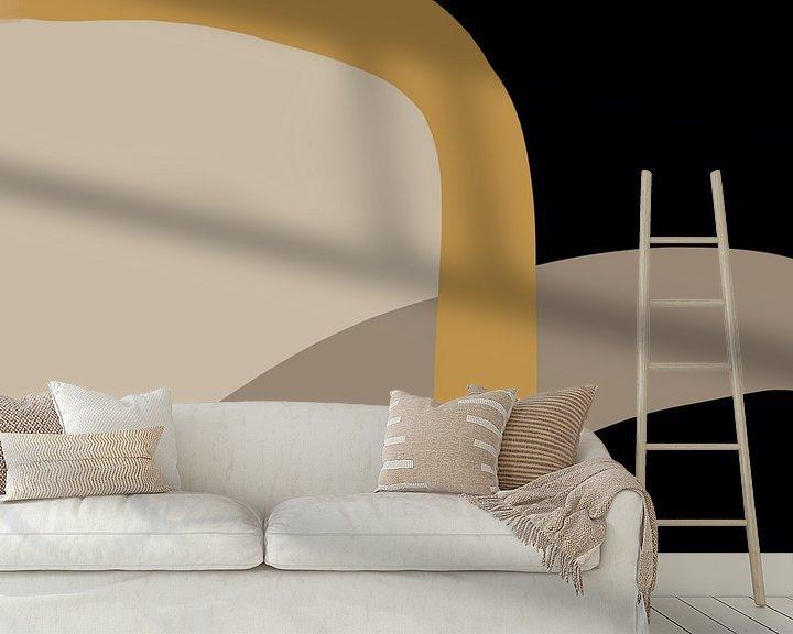 Sfeerimpressie behang: Modern abstract - fortis van YOPIE illustraties