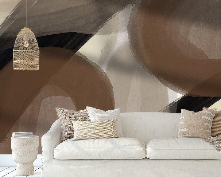 Sfeerimpressie behang: Modern Abstract -amica  (gezien bij vtwonen) van YOPIE illustraties