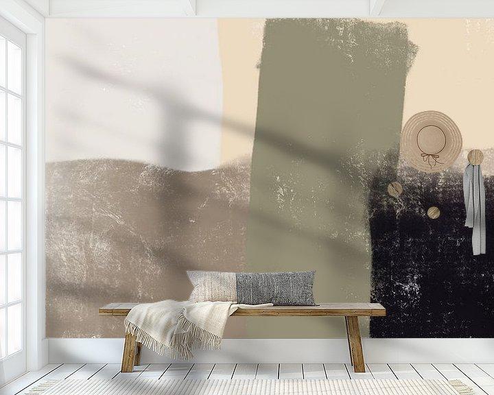 Sfeerimpressie behang: Modern Abstract -arena van YOPIE illustraties