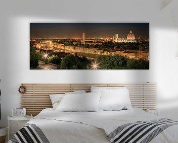 Panorama beeld van Florence, Italië van Henk Meijer Photography