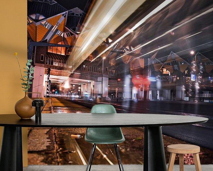 Sfeerimpressie behang: Kubus Woningen Rotterdam van Chris Koekenberg