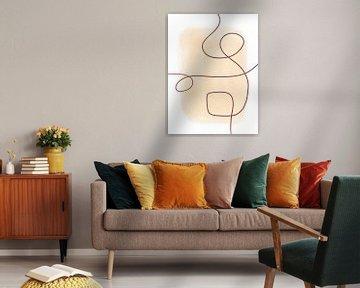 Modern Abstrakte Kunst - Linien von Studio Malabar