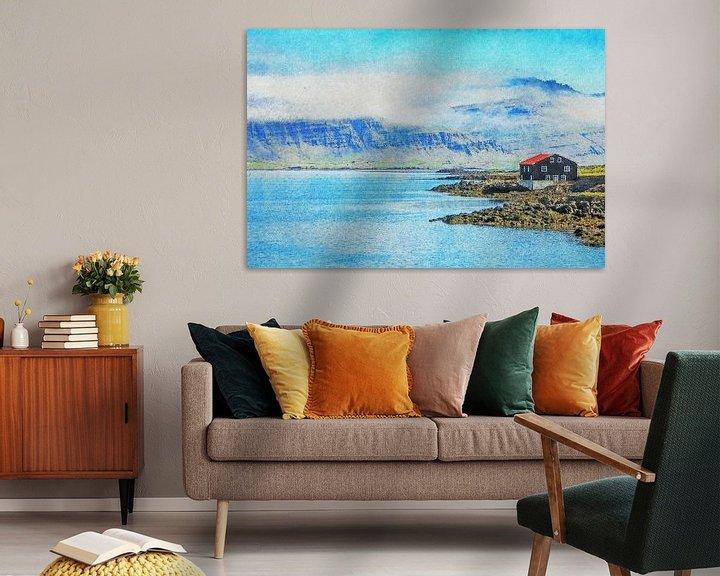 Sfeerimpressie: De fjord en de bergen van Frans Blok