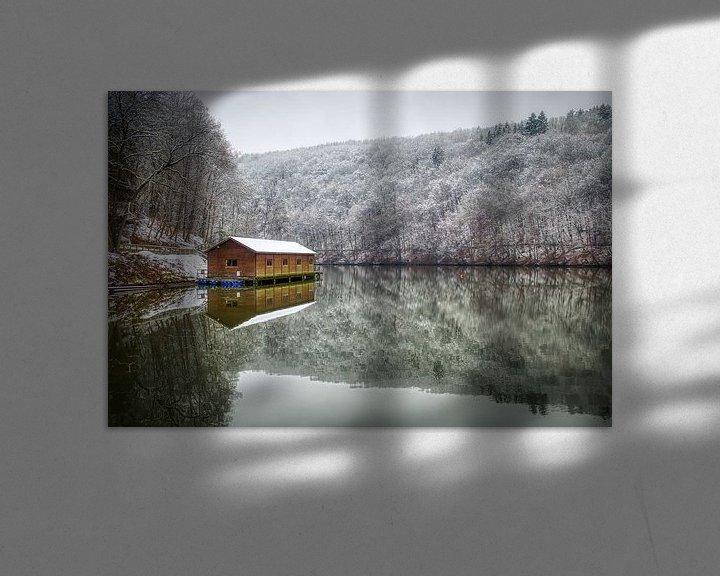 Sfeerimpressie: Het stuwmeer van Nisramont van Jim De Sitter