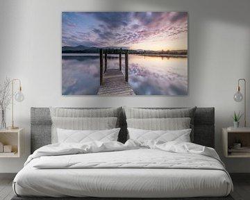 Zonsondergang Lake District Engeland - U.K. van Marcel Kerdijk