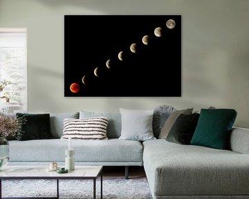 Bloed maan Eclipse van Marcel Kerdijk
