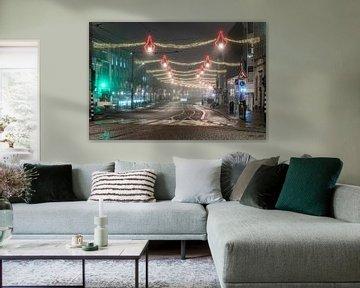 Avondklok in Amsterdam - Rokin