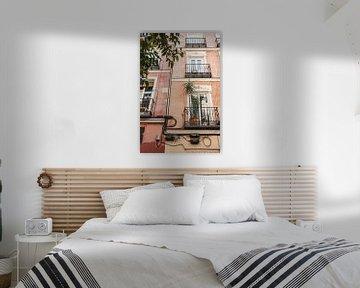 Bunte Häuser in Madrid, Spanien von Photo Atelier