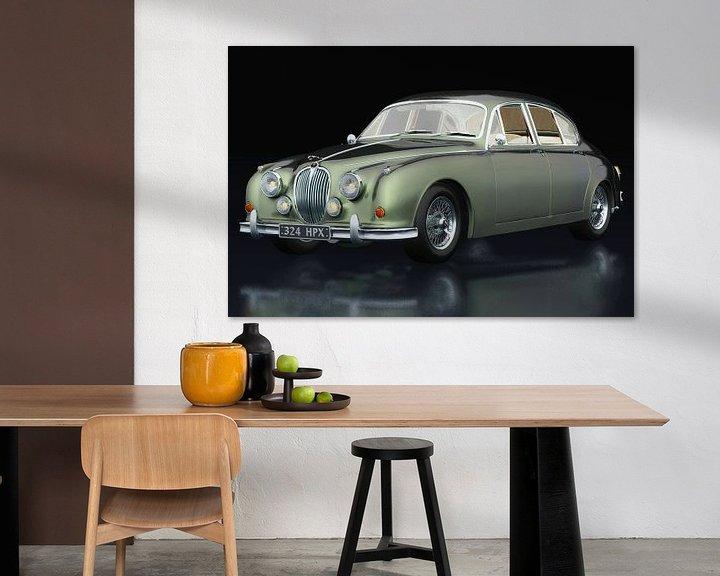 Sfeerimpressie: Jaguar MK-2 drie-kwart zicht van Jan Keteleer