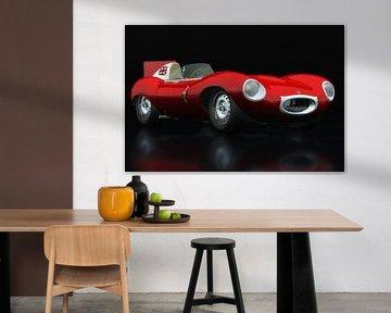 Jaguar Type D 1956 Vue trois quarts rouge
