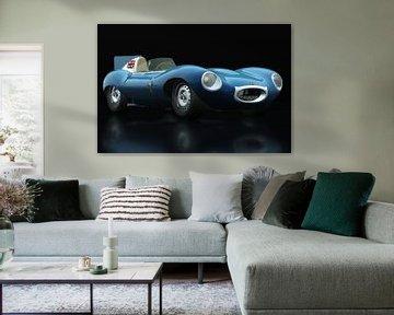 Jaguar Type D 1956 vue trois quarts