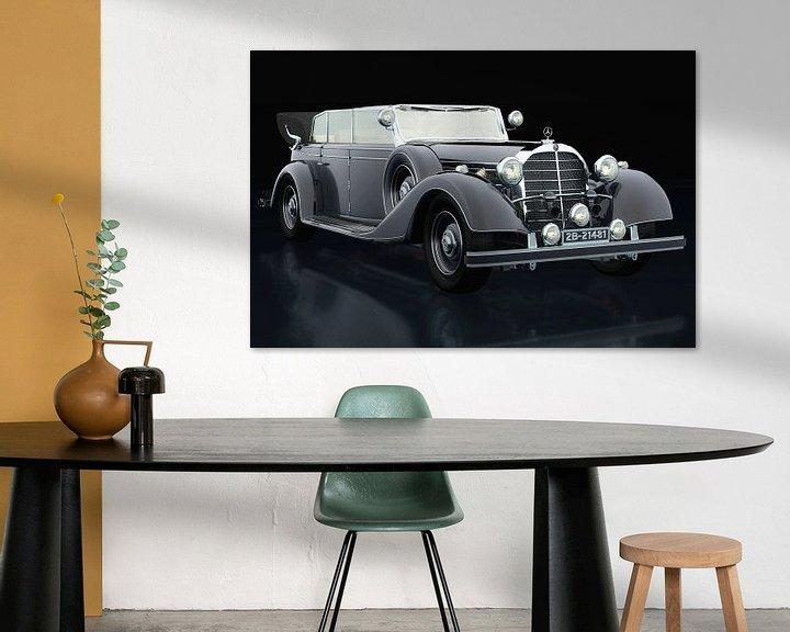 Sfeerimpressie: Mercedes 770-K drie-kwart aanzicht van Jan Keteleer