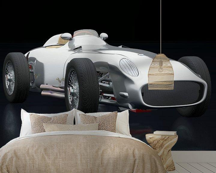 Sfeerimpressie behang: Mercedes W196 Zilveren Pijl drie-kwart mening van Jan Keteleer