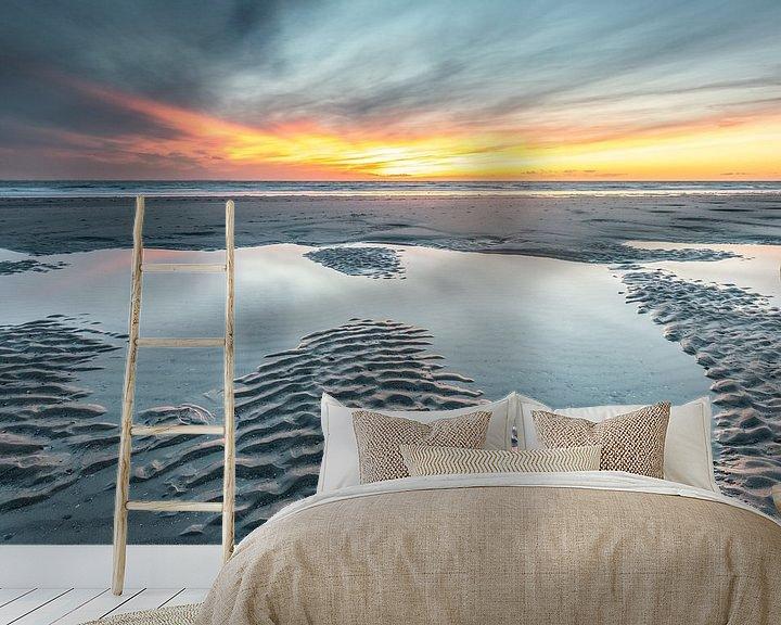 Beispiel fototapete: Sonnenuntergang Strand Burgh-Haamstede von Jan Poppe