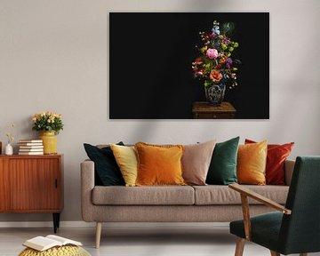 Bloemen in vaas, flowers in a vase. van Corrine Ponsen