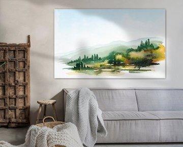 Toskanische Landschaft von Achim Prill