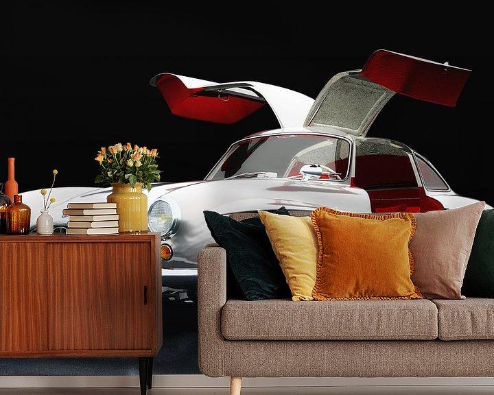 Sfeerimpressie behang: Mercedes 300 SL Gullwings drie-kwart overzicht van Jan Keteleer