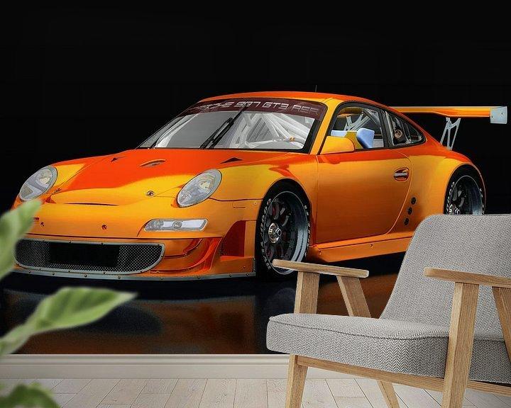 Sfeerimpressie behang: Porsche GT3 RS van Jan Keteleer