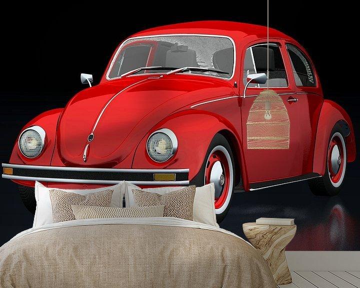 Sfeerimpressie behang: Volkswagen Kever van Jan Keteleer
