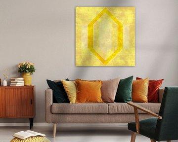 Abstraktes Gelb im Art-Déco-Stil von Maurice Dawson