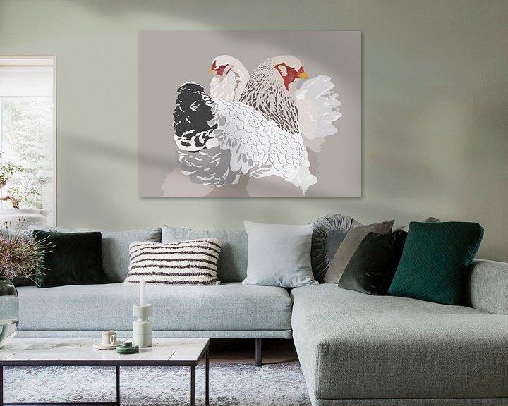 Sfeerimpressie: Brahma kippen van Richard van den Hoek