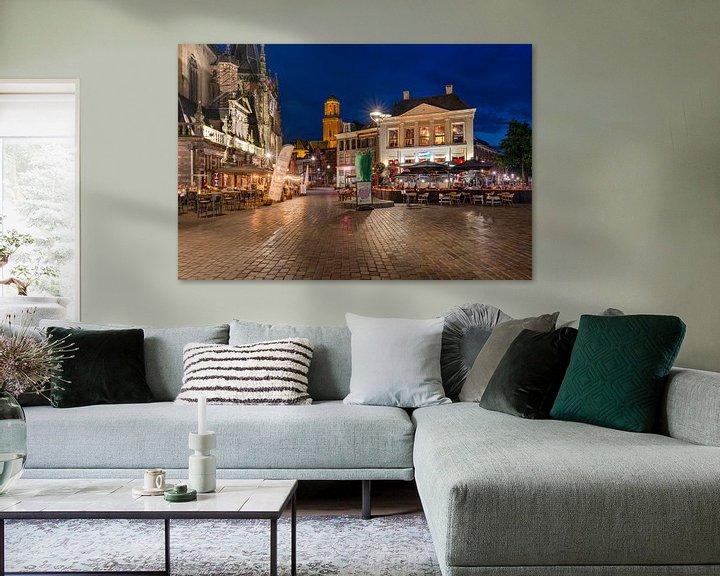 Sfeerimpressie: Grote Markt Zwolle van Fotografie Ronald
