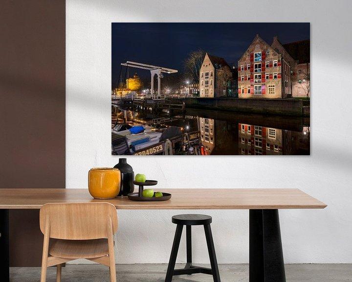 Sfeerimpressie: Aan de Stadsmuur met Pelserbrugje Zwolle van Fotografie Ronald
