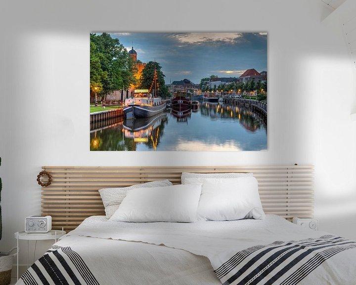 Impression: Thorbeckegracht Zwolle avec la tour Pelser sur Fotografie Ronald