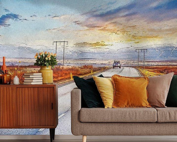 Sfeerimpressie behang: Ringweg IJsland van Frans Blok