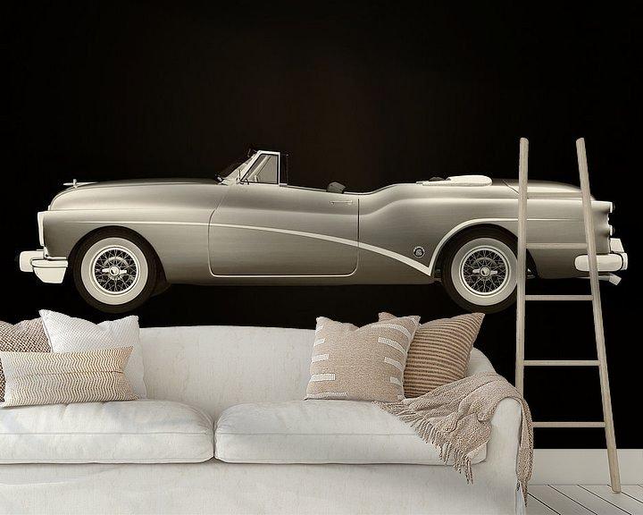 Sfeerimpressie behang: Buick Skylark Cabriolet 1956 van Jan Keteleer