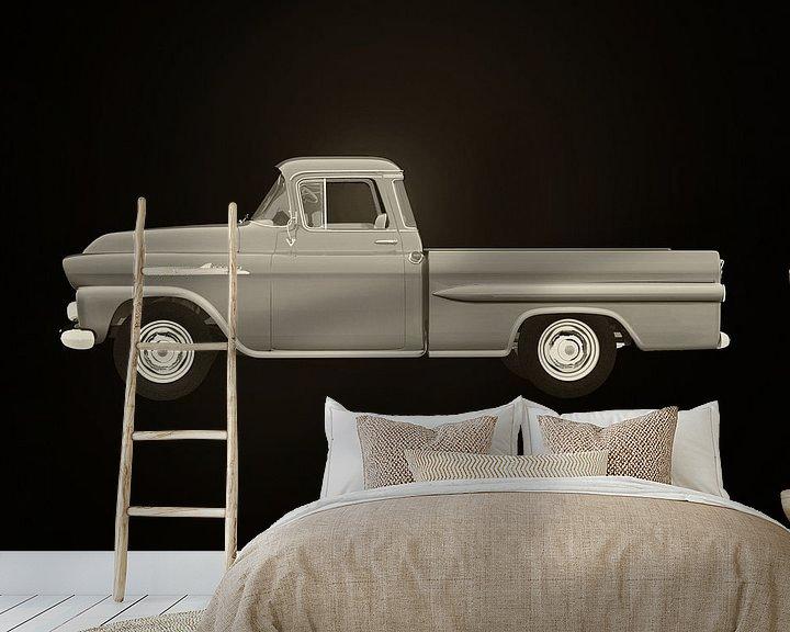 Sfeerimpressie behang: Chevrolet Apache 1959 van Jan Keteleer