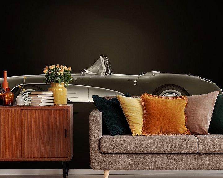 Sfeerimpressie behang: Chevrolet Corvette C1 van Jan Keteleer