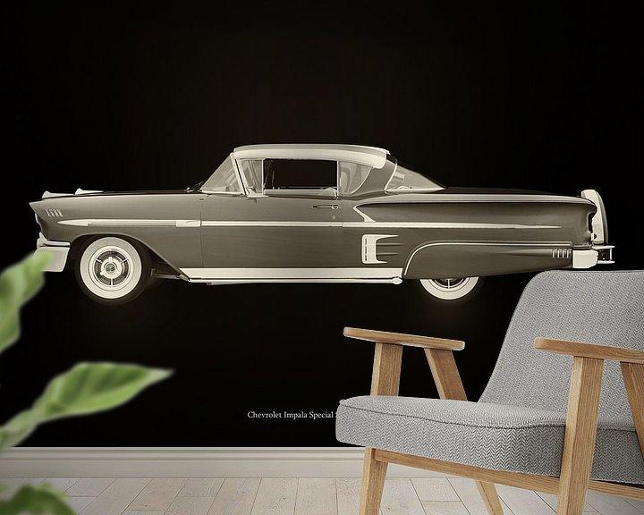 Sfeerimpressie behang: Chevrolet Impala Special Sport 1958 van Jan Keteleer