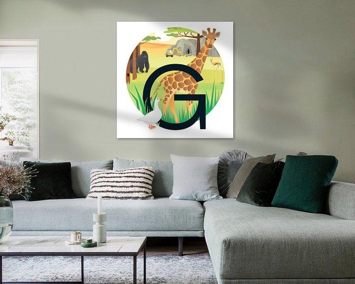 Impression: La girafe et le gorille sur Hannahland .