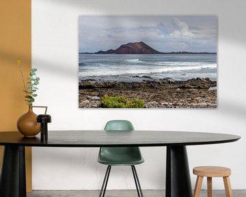 Vue d'une partie de la côte de Corralejo sur l'île canarienne de Fuerteventura sur Reiner Conrad