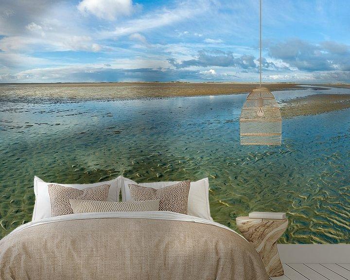 Beispiel fototapete: Austrocknen des Wattenmeeres von Jan Huneman
