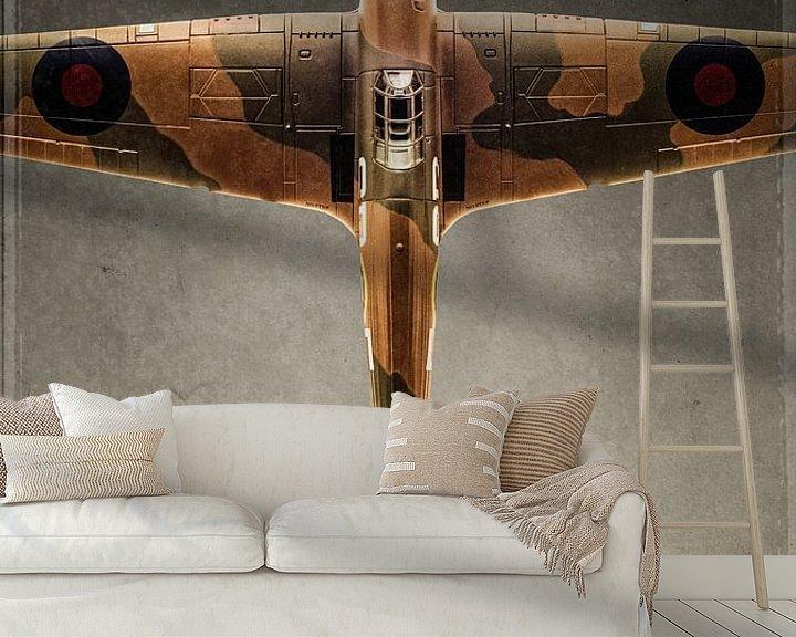 Beispiel fototapete: Hawker Hurricane - Warbird - Flugzeug von Stefan Witte