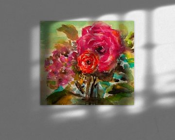 Roses et hortensias sur h-Edys